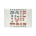 TGIF Thank God I'm Free Rectangle Magnet (100 pack