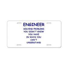 ENGINEER Aluminum License Plate