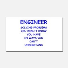 ENGINEER Car Magnet 20 x 12