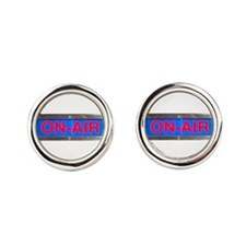 On-Air Broadcasting Sign Round Cufflinks