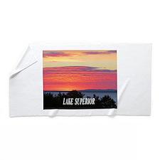 Sunrise Lake Superior Beach Towel