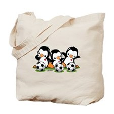 Soccer Penguins Tote Bag