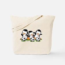 Soccer Penguins Tote Bag