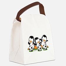Soccer Penguins Canvas Lunch Bag