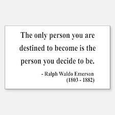 Ralph Waldo Emerson 2 Rectangle Decal
