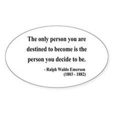 Ralph Waldo Emerson 2 Oval Decal