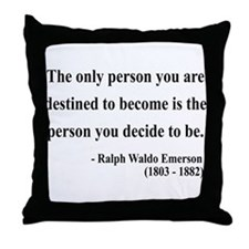 Ralph Waldo Emerson 2 Throw Pillow