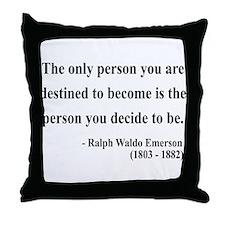 Ralph Waldo Emerson 2 Throw Pillow