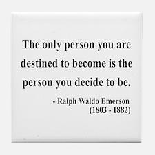 Ralph Waldo Emerson 2 Tile Coaster