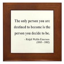 Ralph Waldo Emerson 2 Framed Tile