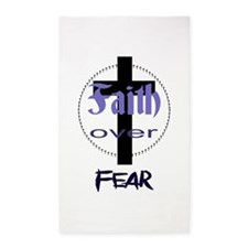 Faith over Fear Area Rug