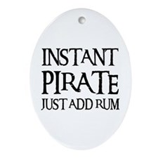 JUST ADD RUM Oval Ornament