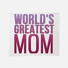 Worlds Best Mom Throw Blanket