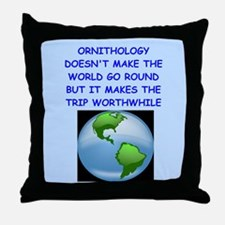 ORNITHOLOGY Throw Pillow