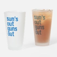 Sun's out guns out Drinking Glass