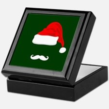 Santa Hat and Mustache Keepsake Box