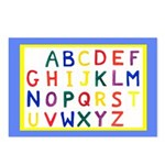 Alphabet Postcards (Package of 8)