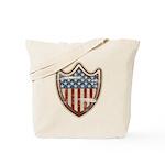 USA Flag Patriotic Shield Tote Bag