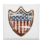 USA Flag Patriotic Shield Tile Coaster