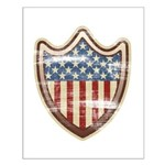 USA Flag Patriotic Shield Small Poster