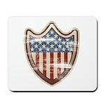 USA Flag Patriotic Shield Mousepad