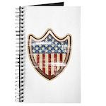 USA Flag Patriotic Shield Journal