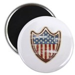 "USA Flag Patriotic Shield 2.25"" Magnet (10 pack)"