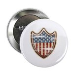 """USA Flag Patriotic Shield 2.25"""" Button (100 pack)"""