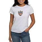 USA Flag Patriotic Shield Women's T-Shirt