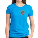 USA Flag Patriotic Shield Women's Dark T-Shirt