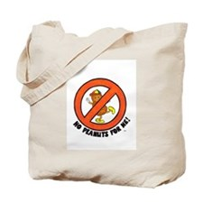 No Peanuts For Me! Tote Bag