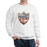 USA Flag Patriotic Shield Sweatshirt