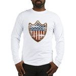 USA Flag Patriotic Shield Long Sleeve T-Shirt