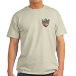 USA Flag Patriotic Shield Light T-Shirt