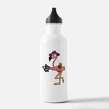 Flamingo Gardener Water Bottle