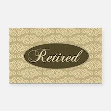Retired Rectangle Car Magnet