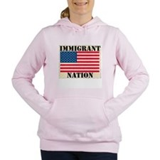 pol-immigrantnation.png Women's Hooded Sweatshirt