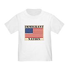 Immigrant Nation Ash Grey T-Shirt
