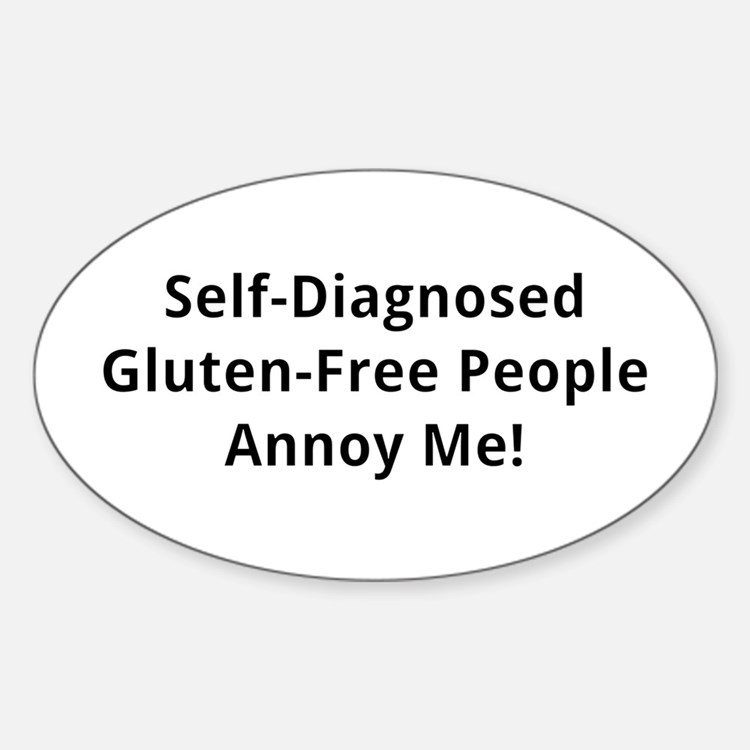 Self-Diagnosed Gluten-Free Decal
