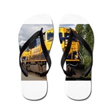 Alaska Railroad engine locomotive Flip Flops