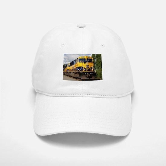 Alaska Railroad engine locomotive Baseball Baseball Cap