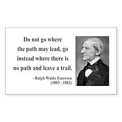 Ralph Waldo Emerson 3 Rectangle Decal