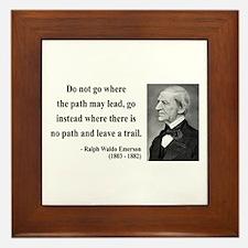 Ralph Waldo Emerson 3 Framed Tile