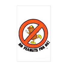No Peanuts For Me! Rectangle Decal