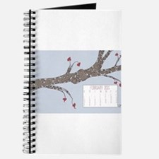 February 2015 Heart Leaves Tree Calendar Journal