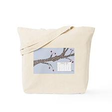 February 2015 Heart Leaves Tree Calendar Tote Bag