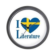 Swedish Literature Wall Clock