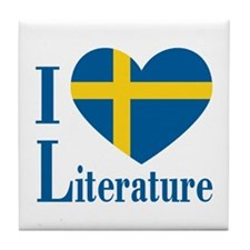 Swedish Literature Tile Coaster
