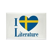 Swedish Literature Rectangle Magnet