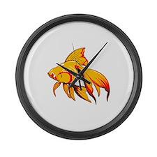Fantail Goldfish Large Wall Clock